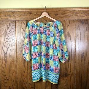 Tolani Mosaic Silk Mini Dress